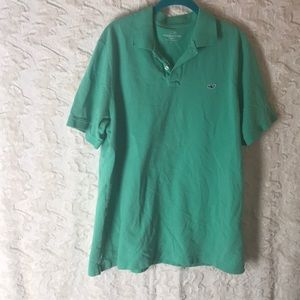VINEYARD VINES classic fit polo green large